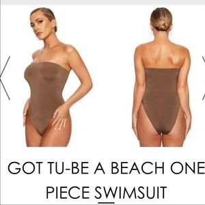 NAKED WARDROBE GOT TU-BE One Piece Swimsuit